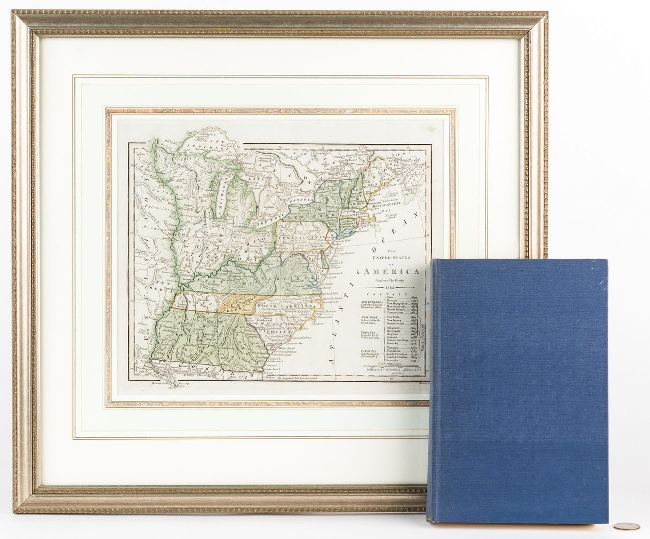 Lot 252: State of Franklin, TN 1827 Map, book, 2 items