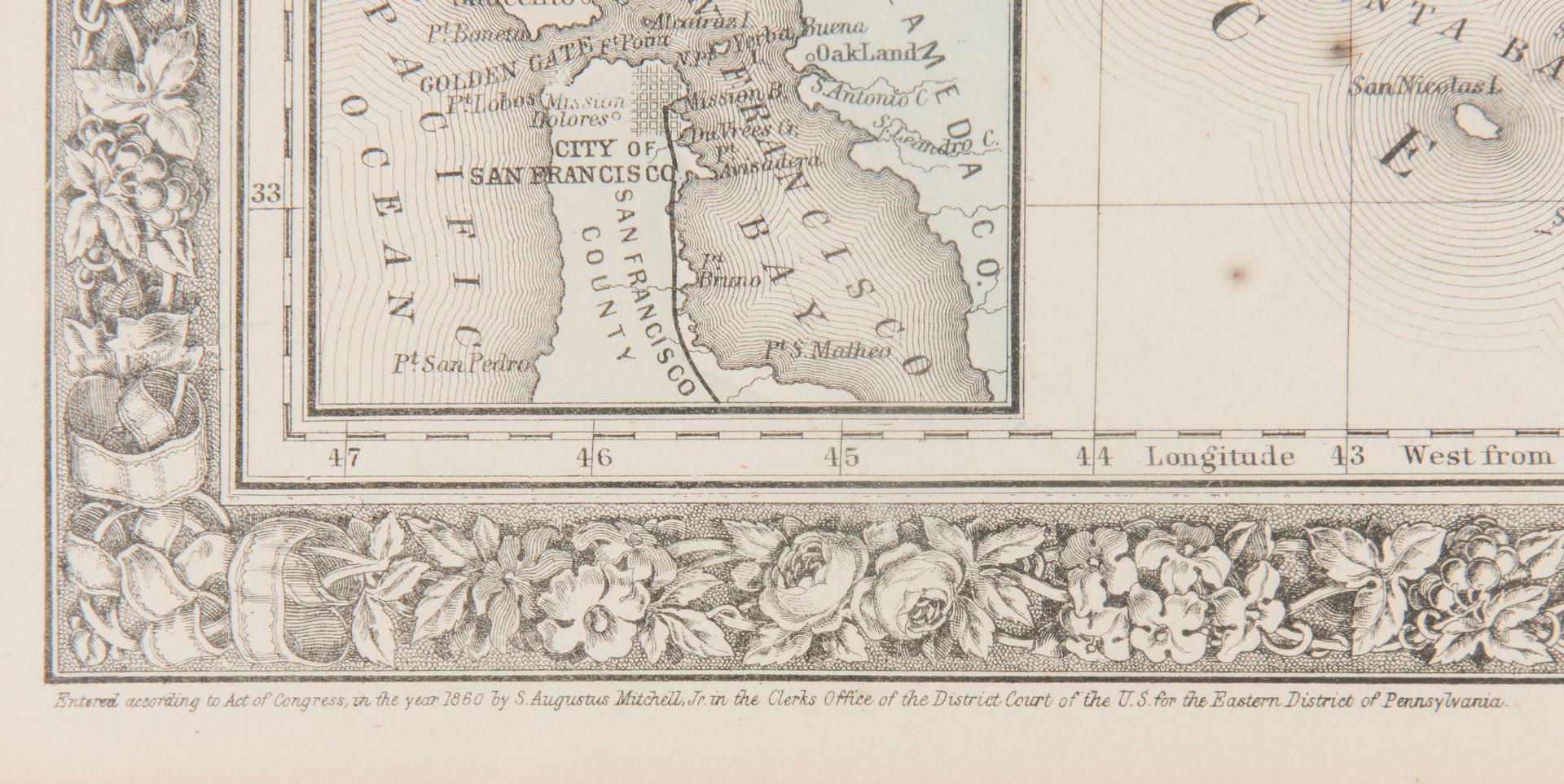 Lot 254: Three 19th C. Maps, CA, TN, PA, NJ