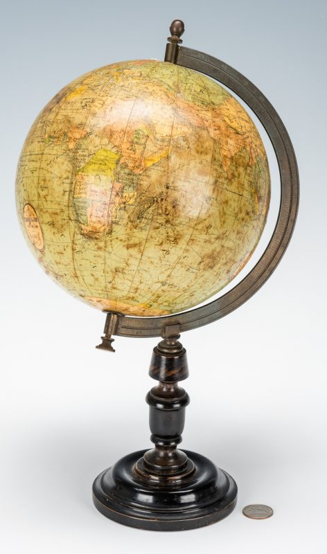 Lot 255: Terrestrial Table Globe, E.J. Arnold & Son