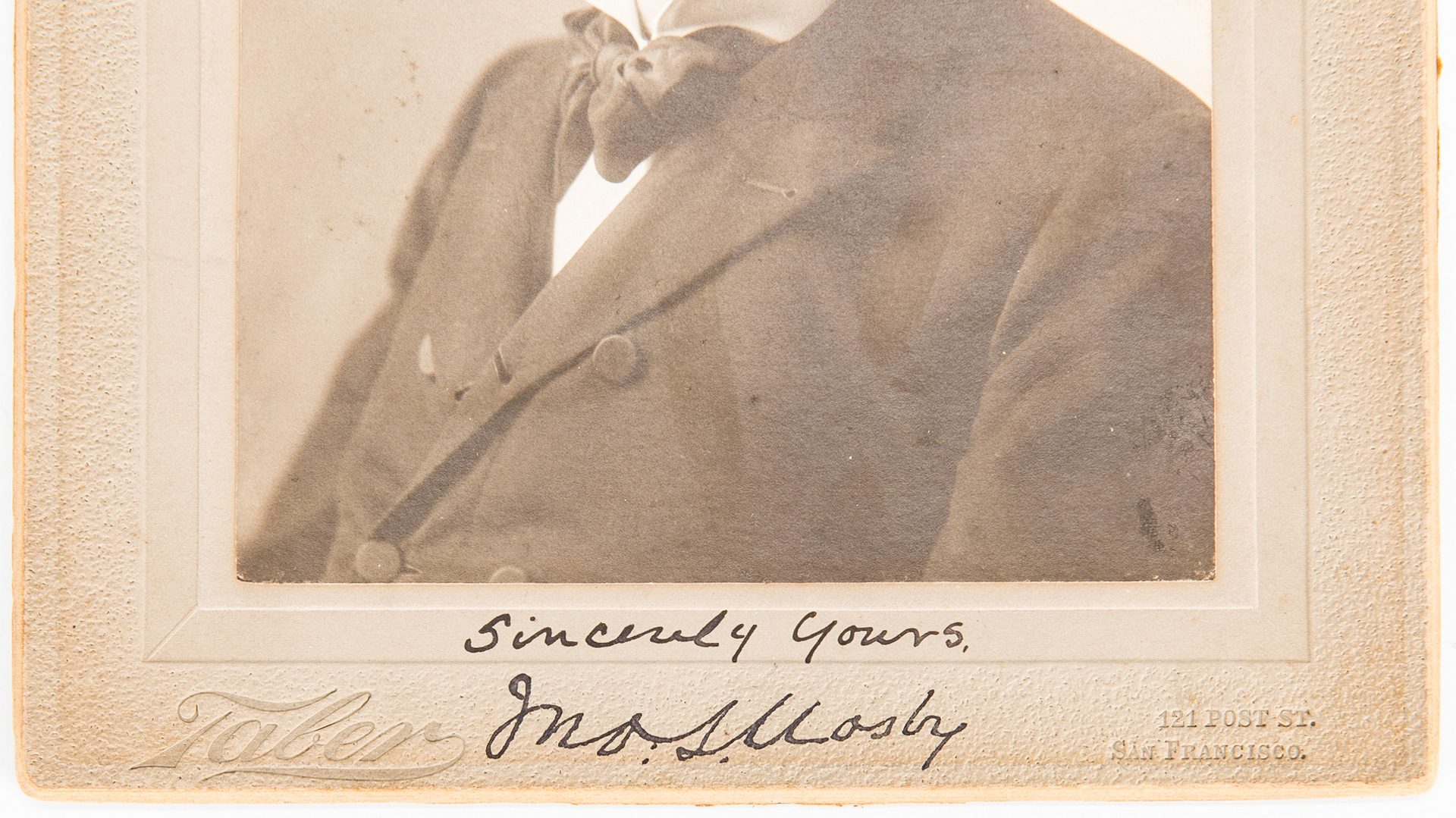 Lot 261: J. S. Mosby Archive, 3 ALS, Signed Photo, 8 items