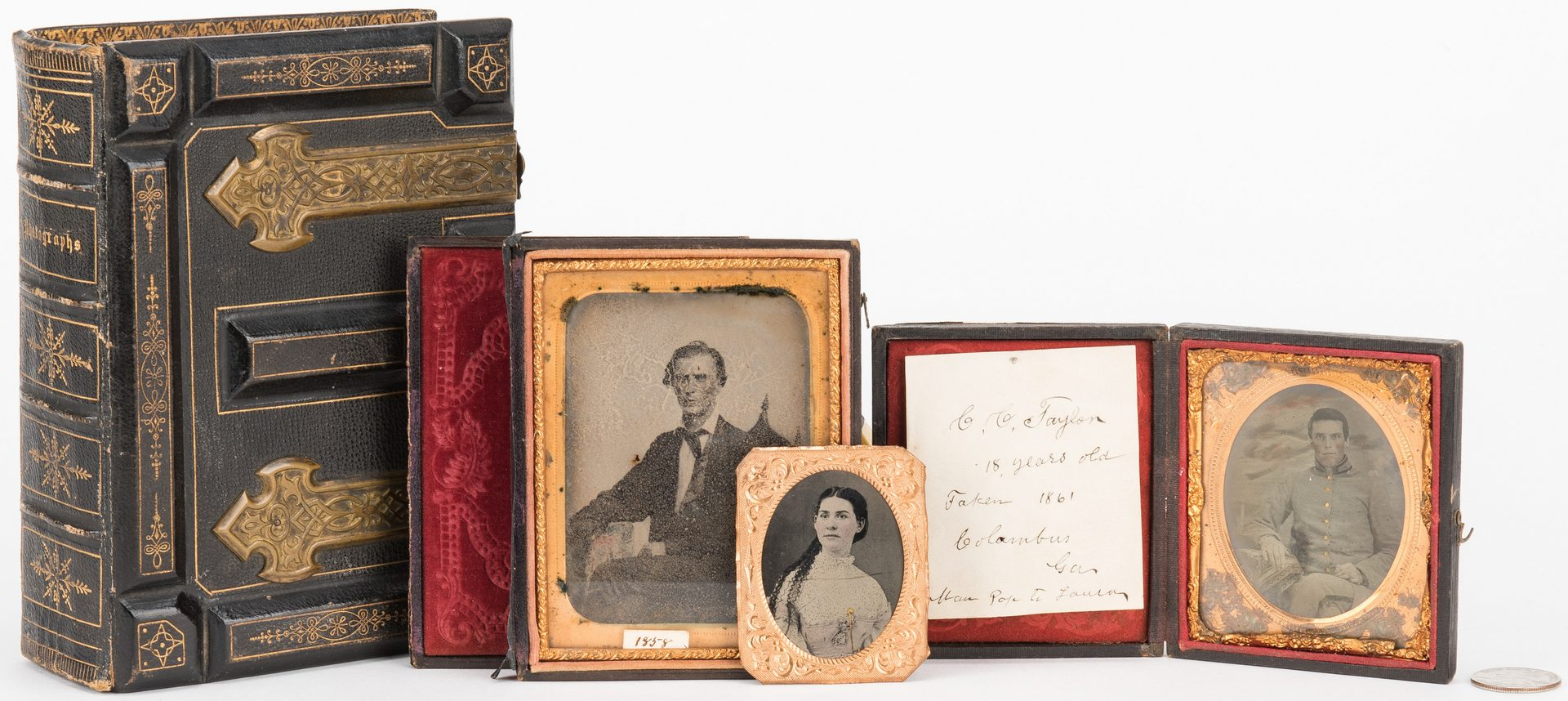 Lot 262: Civil War Tintype & Archive, C. C. Taylor – Columbus GA