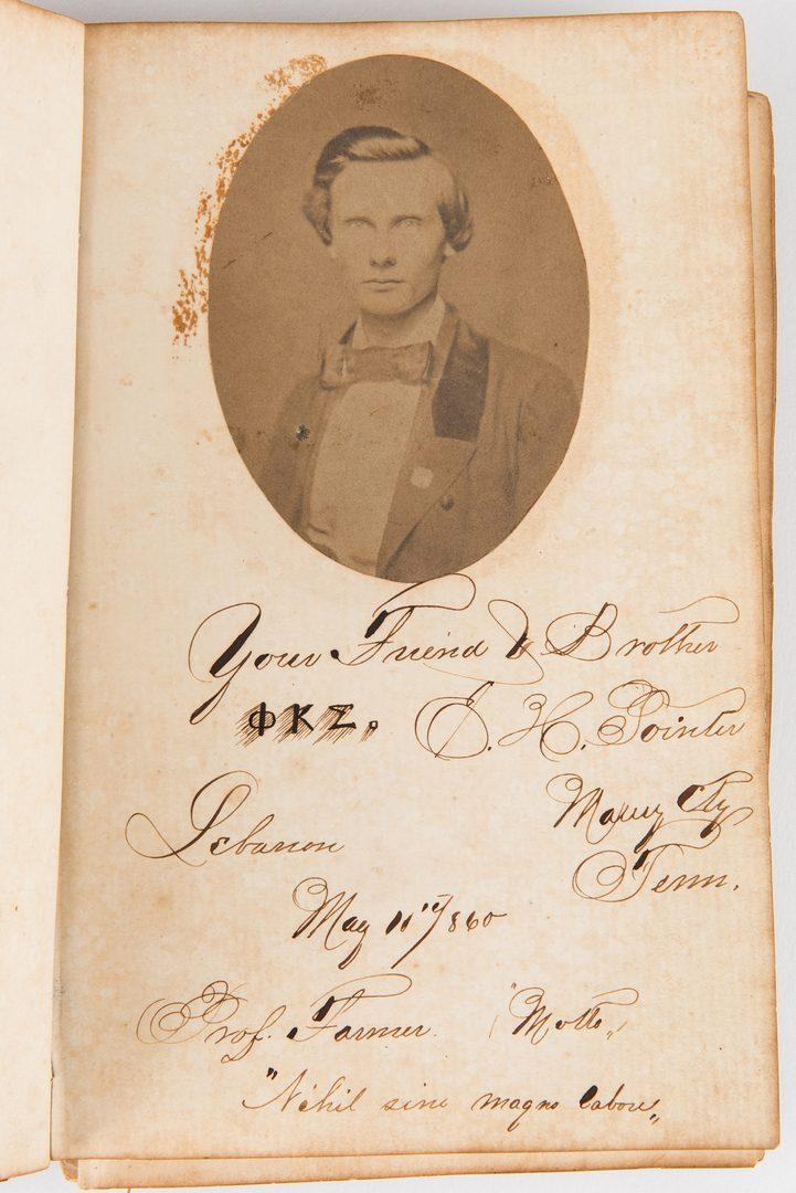 Lot 263: TN 1860 Album, Cumberland University Phi Kappa Sigma
