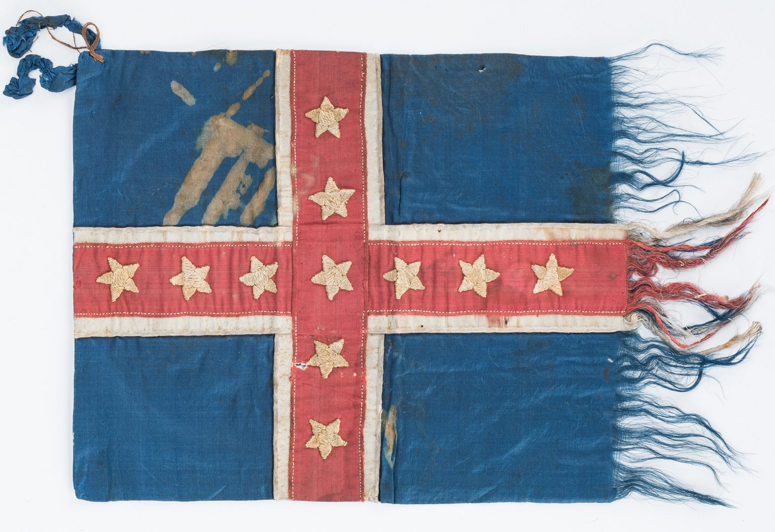 Lot 265: Battle of Shiloh Polk Pattern Bible Flag, S.D.J. Lewis