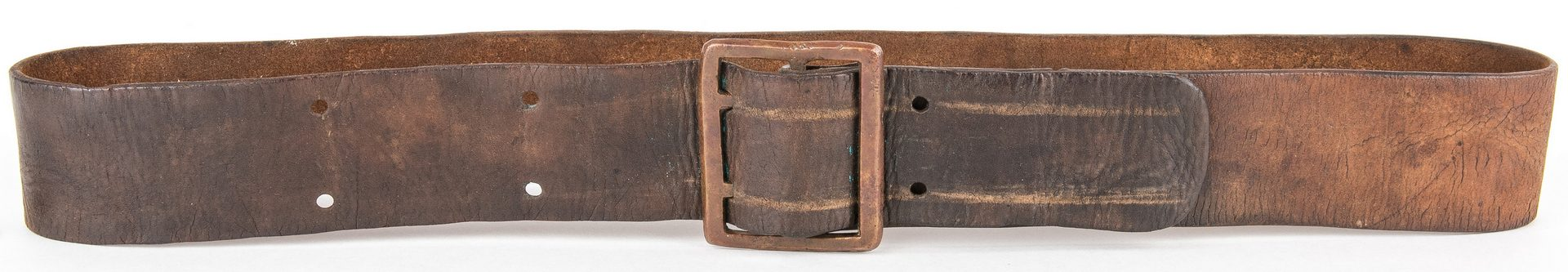 Lot 267: Confederate Richmond, VA R.H. Bosher Leather Belt with Buckle