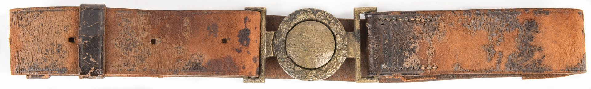Lot 268: Confederate Leech & Rigdon Waist Plate on Leather Sword Belt