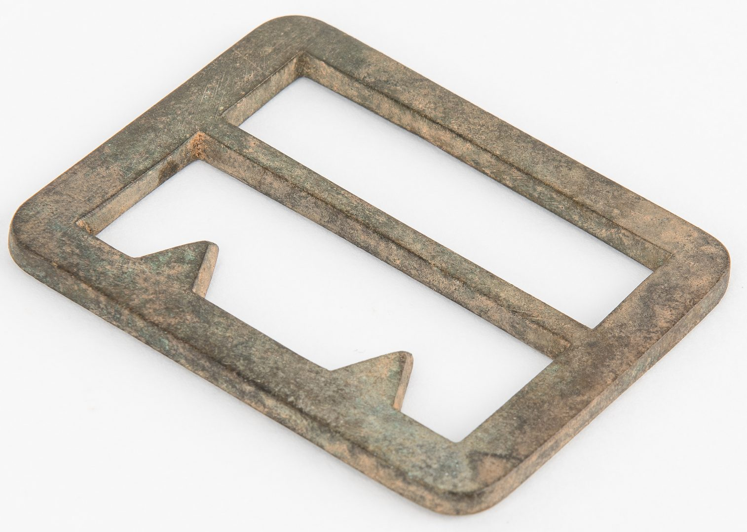 Lot 272: 2 Confederate Frame Buckles, incl. Gutterback, Beveled Edge