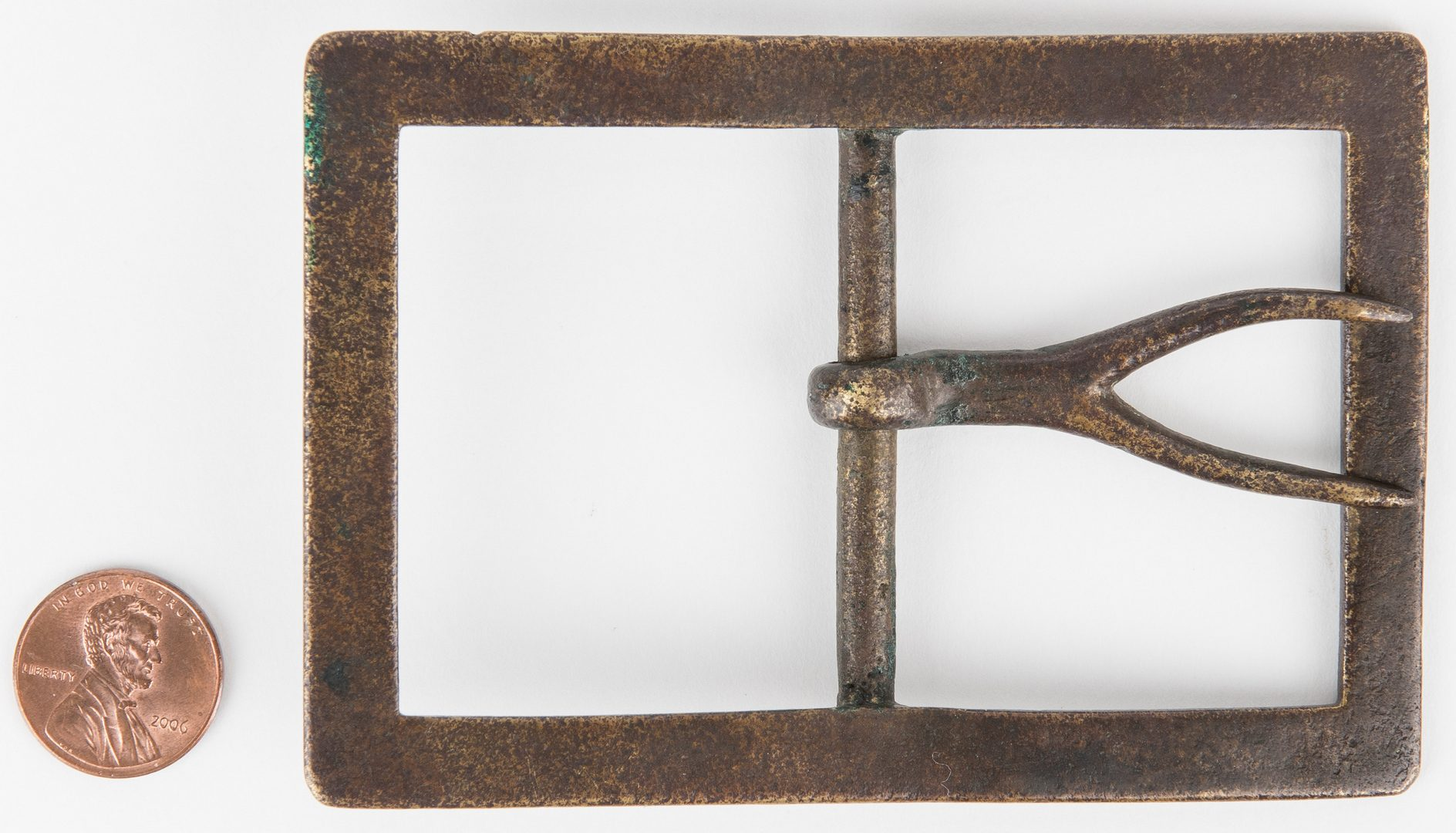 Lot 273: 2 Confederate Frame Buckles, incl. Forked Tongue, Beveled Edge