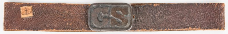 "Lot 274: Civil War Period Belt/Possibly Contemporary ""CS"" Waist Belt Plate"