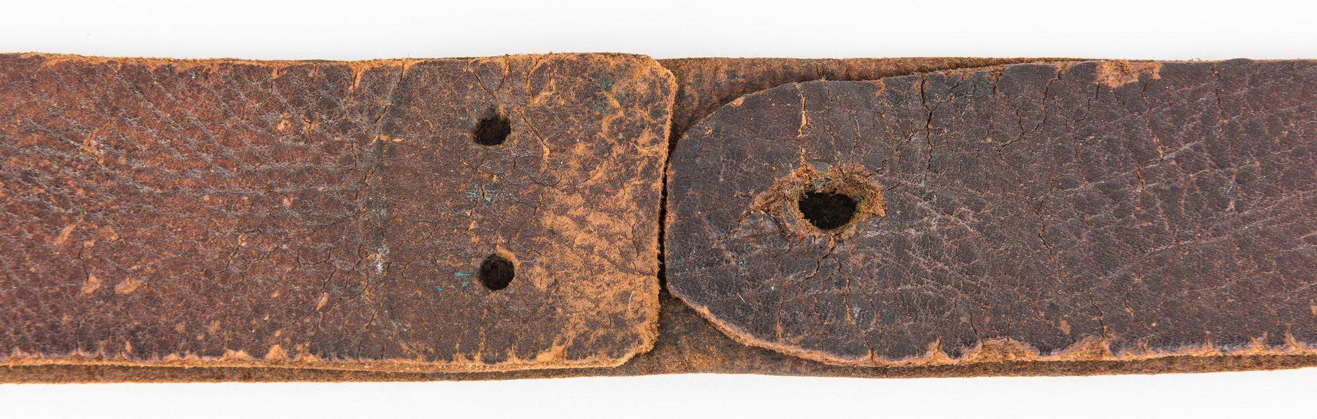 """Lot 274: Civil War Period Belt/Possibly Contemporary """"CS"""" Waist Belt Plate"""