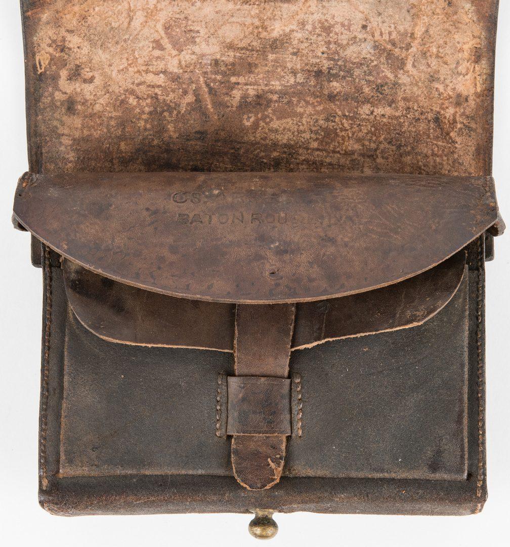 Lot 277: Confederate Baton Rouge, LA Arsenal Model 1855 Leather Cartridge Box