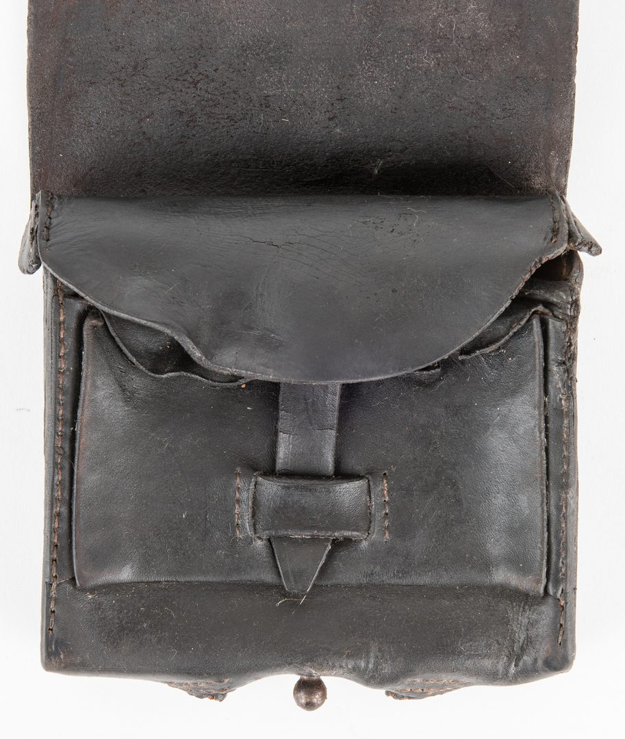 Lot 278: Confederate Magee & George Leather Cartridge Box with Sling