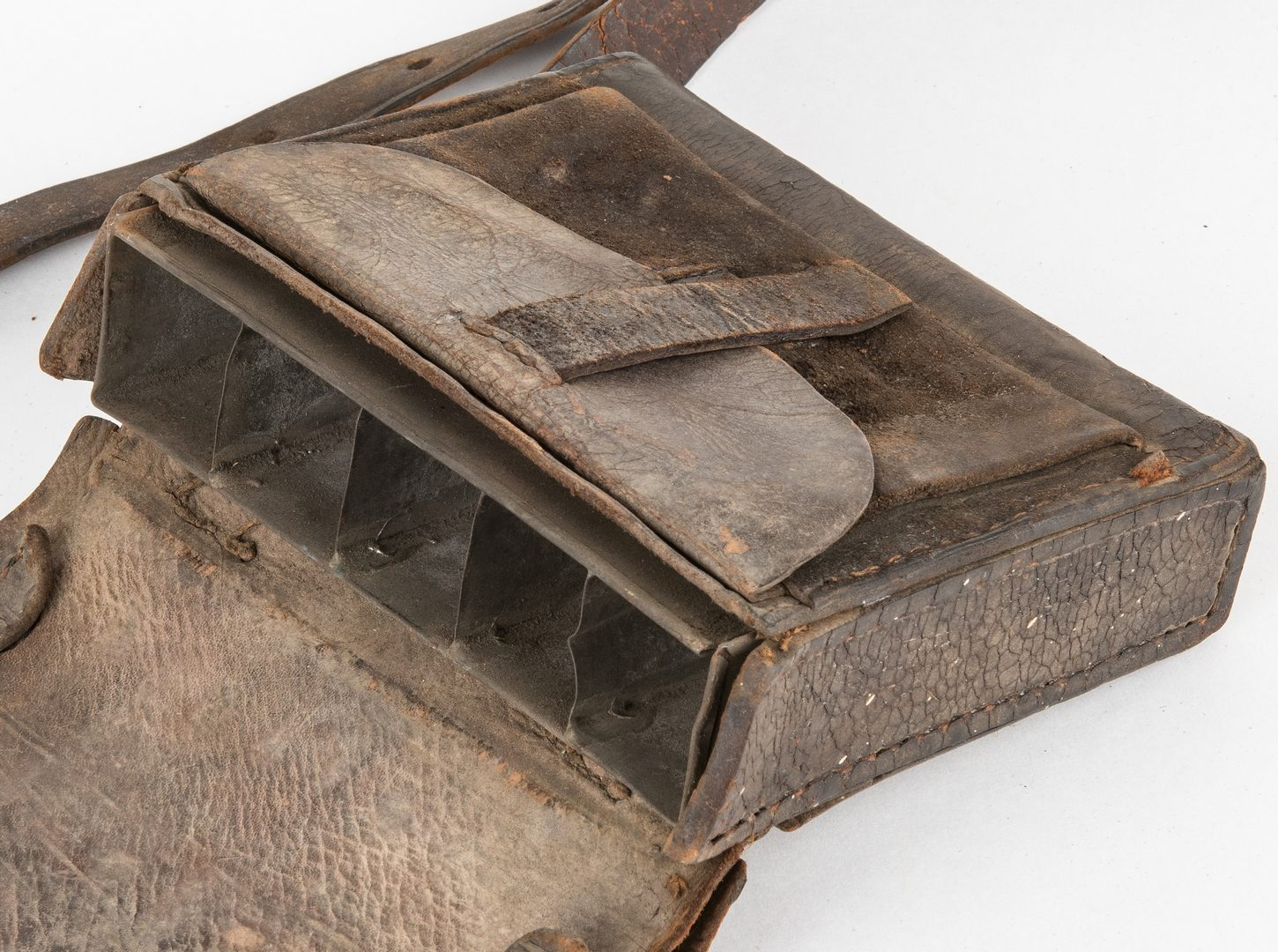 Lot 280: Confederate McKensie Charleston, South Carolina Leather Cartridge Box