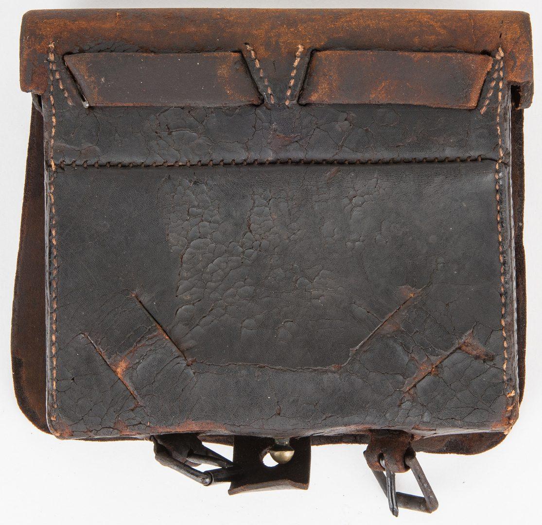 Lot 281: Confederate Pattern 1839 .69 cal Leather Cartridge Box