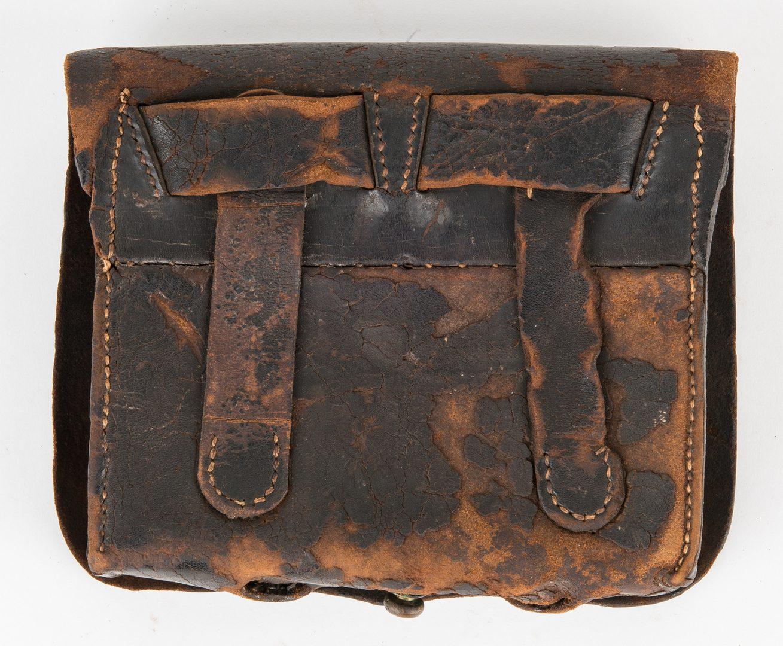 Lot 282: Confederate Leather Cartridge Box