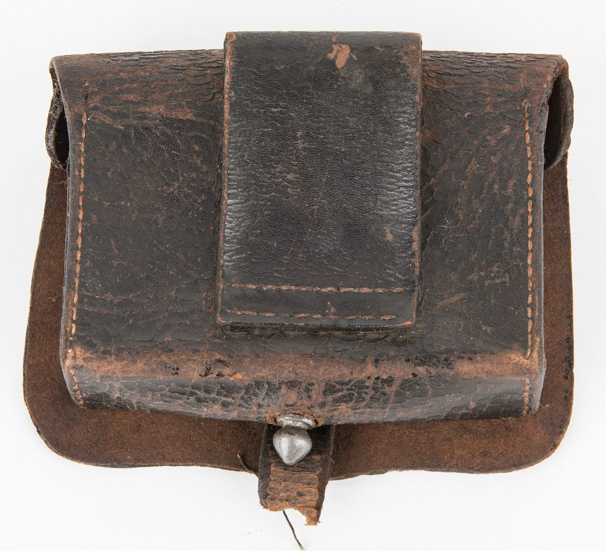 Lot 283: Confederate Identified Pistol Cartridge Box