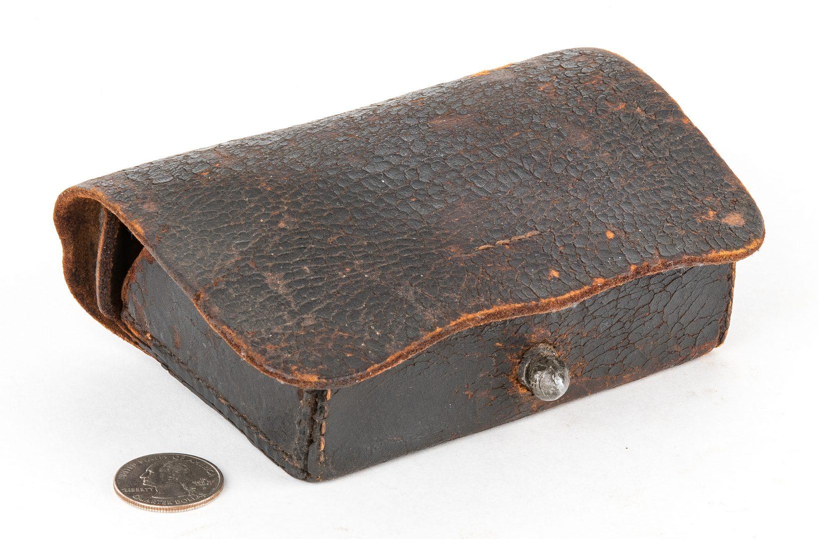Lot 284: Confederate Pistol Cartridge Box