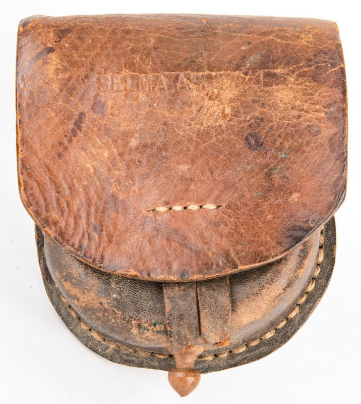 Lot 288: Confederate Selma, AL Arsenal Leather Cap Box