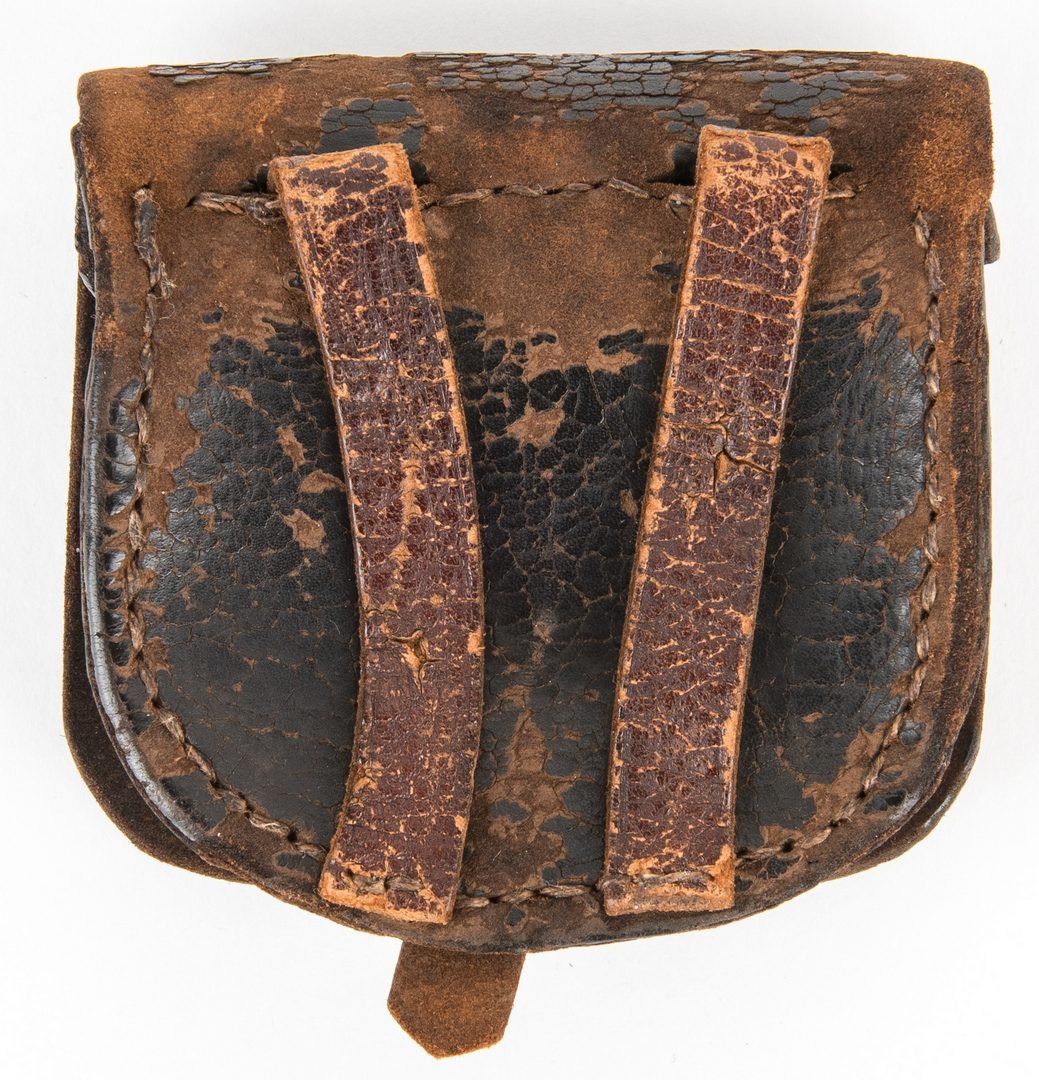 Lot 289: Confederate Arsenal Made Leather Cap Box, Battle of Antietam, Maryland