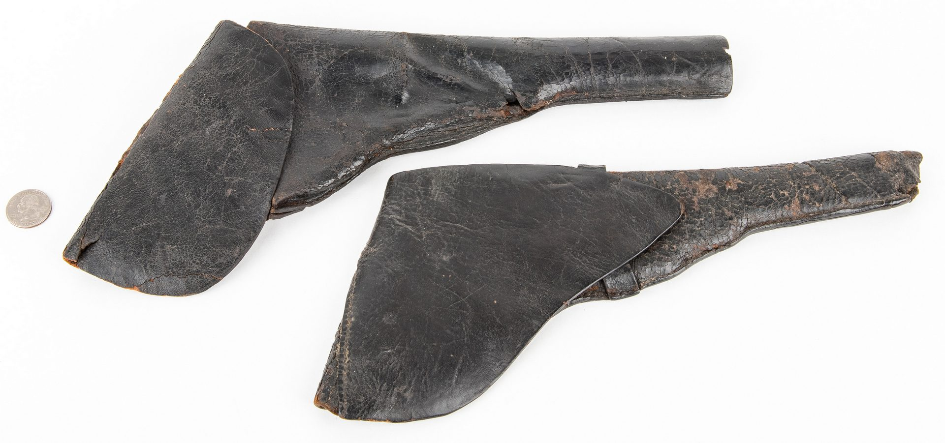 Lot 290: 2 Confederate Leather Holsters, including .44 and .36 cal