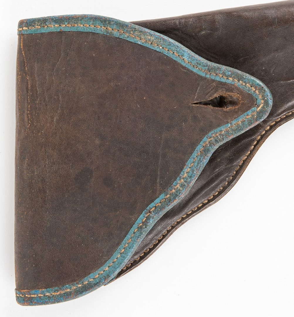 Lot 291: 2 Confederate Leather Holsters, including Richmond, VA Arsenal