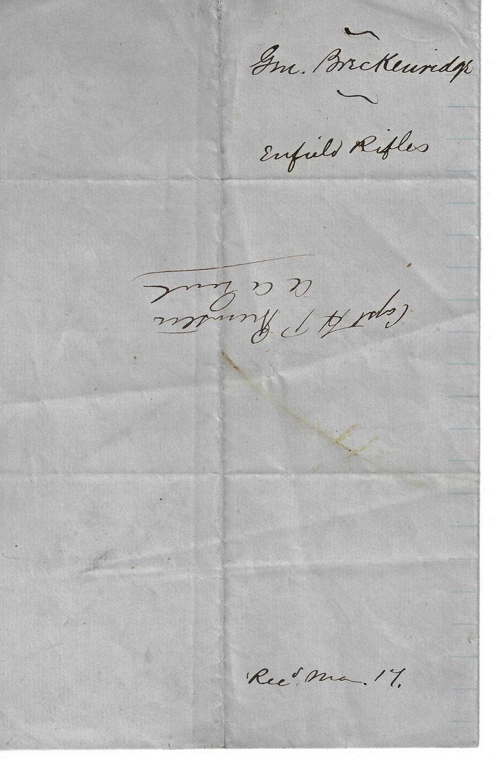 Lot 295: Confederate Blockade Run 1862 Enfield Tower Rifled Musket, .577 caliber