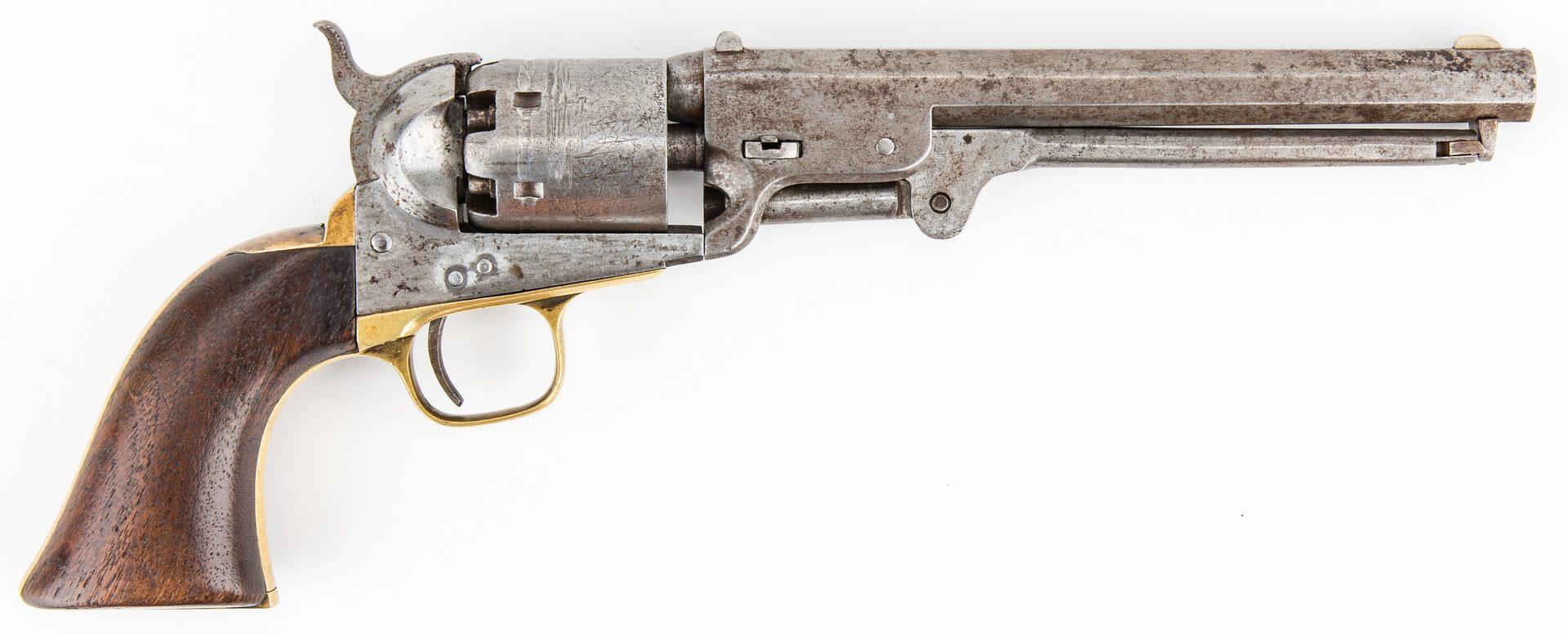 Lot 297: Colt Model 1851 Navy Revolver, .38 cal., T. H. Biscoe 5th LA Vols
