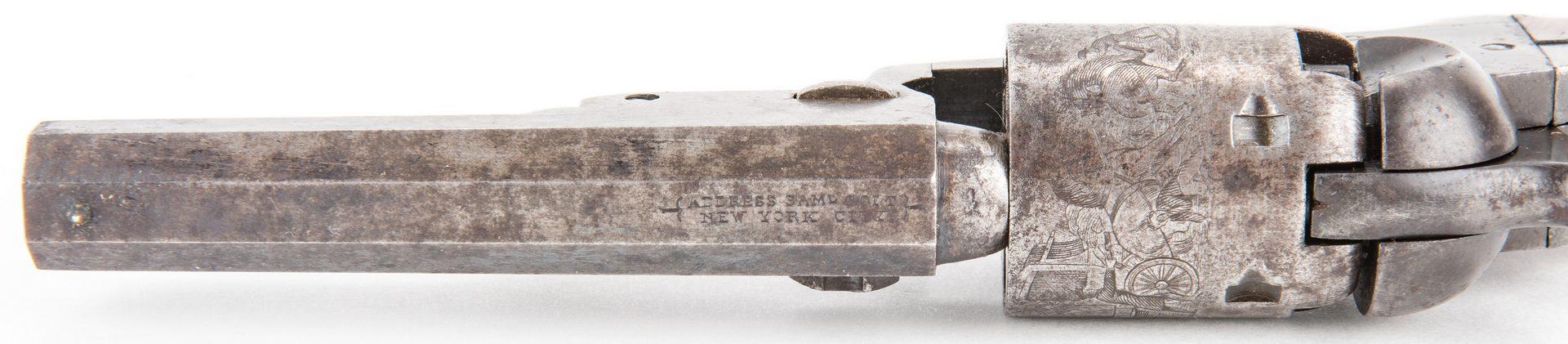 Lot 302: Cased Confederate Colt Model 1849 Pocket Percussion Revolver, .31 cal
