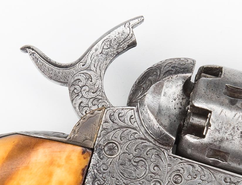 Lot 303: Nimschke Factory Engraved Colt Model 1849 Revolver, .32 cal