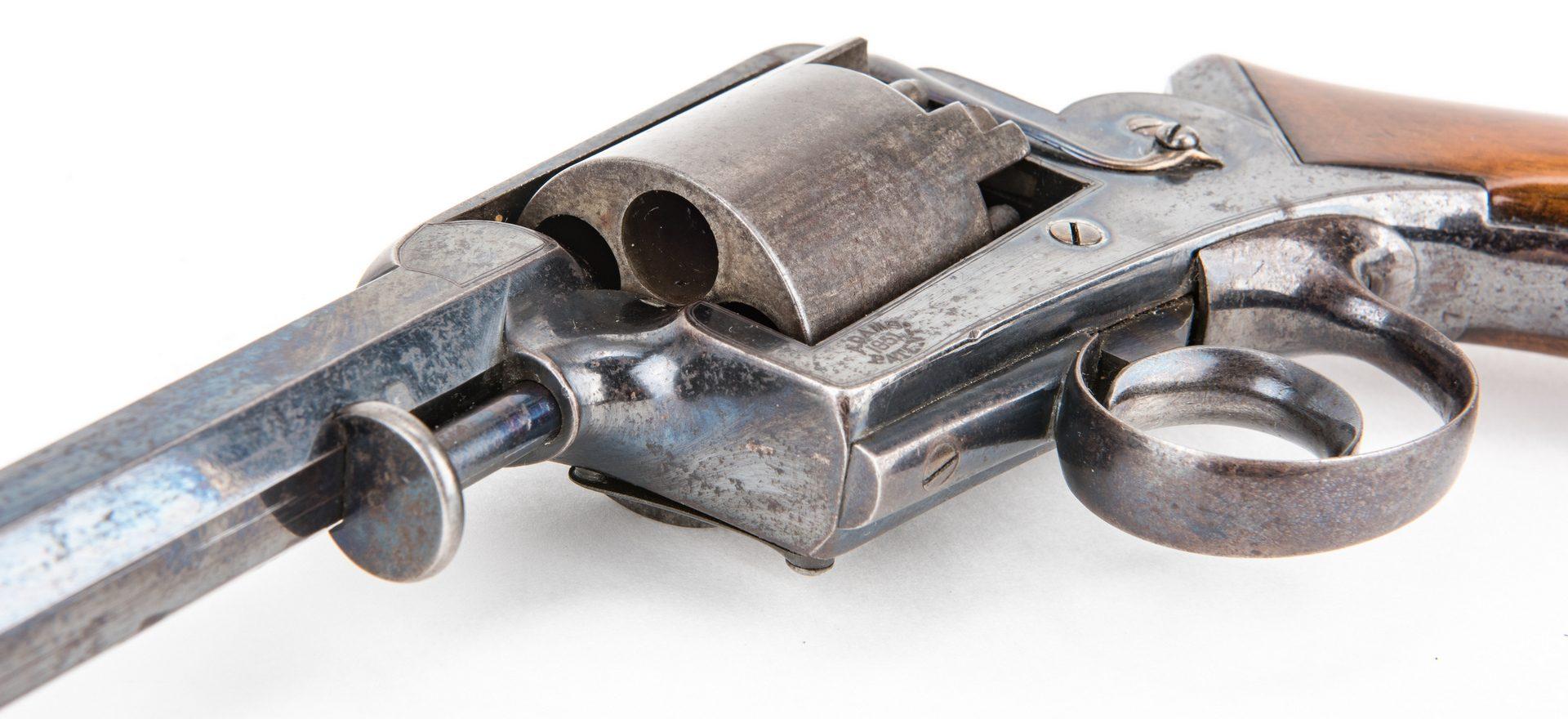Lot 307: Cased Agent Marked T. & W. Harrison Adams Model 1851 DA Percussion Revolver, .45 cal