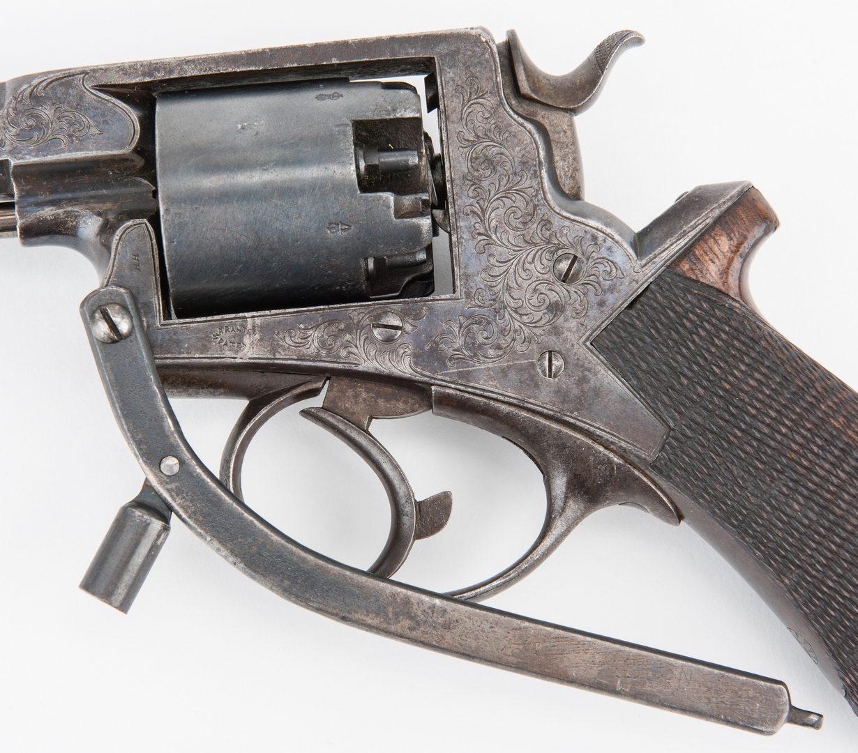 Lot 309: British Tranter Percussion Revolver, .45 caliber, SN 15035