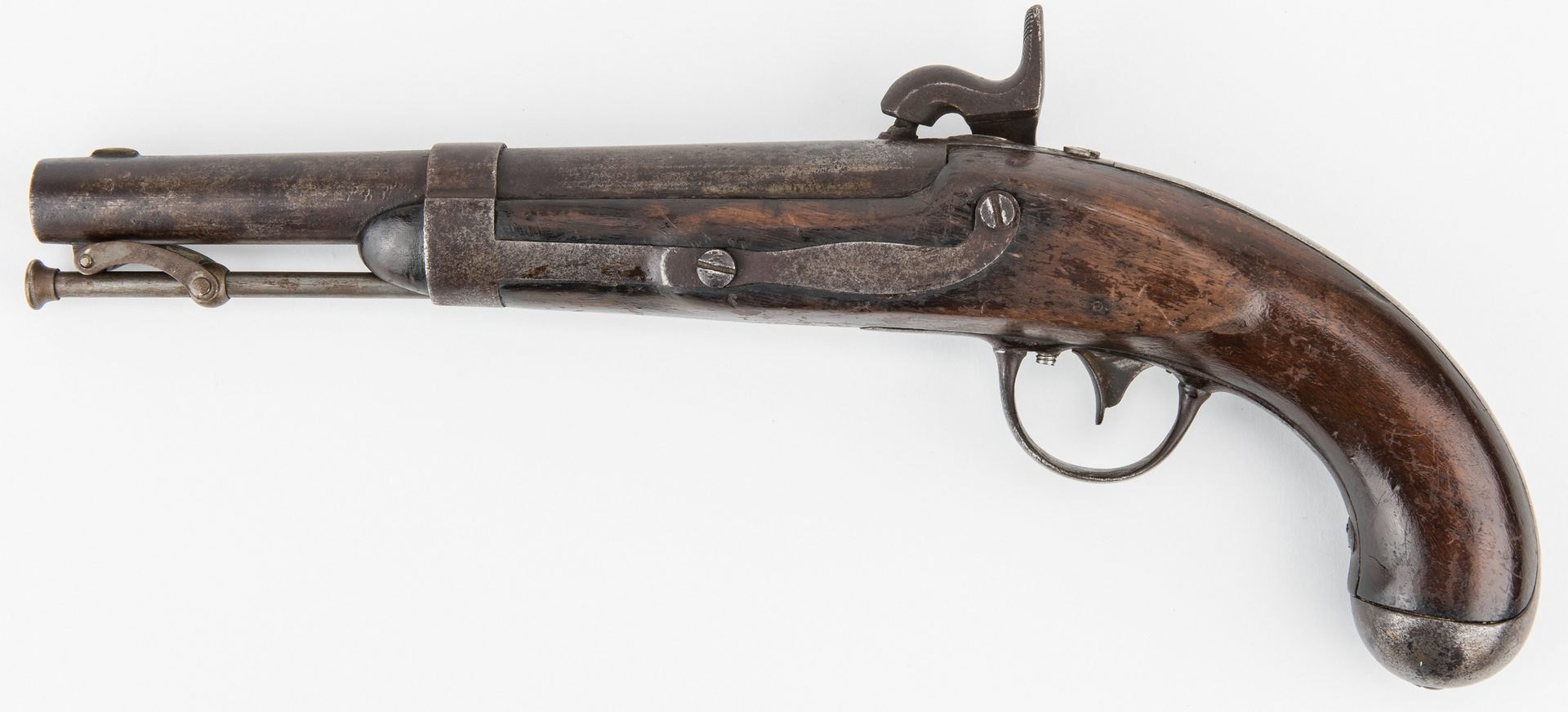 Lot 316: Model 1836 R. Johnson Gov't Contract Pistol, . 54 Caliber