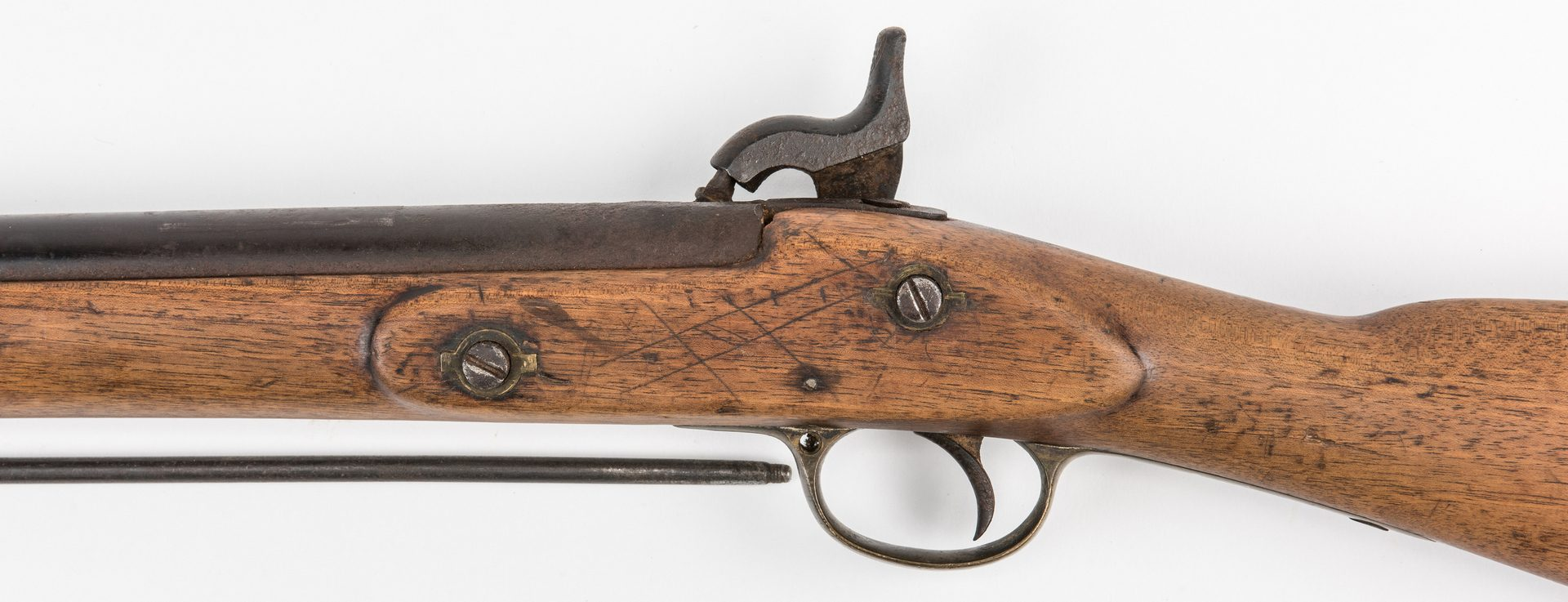 Lot 321: Barnett London Percussion Musket-Rifle, Enfield pattern, .577 cal