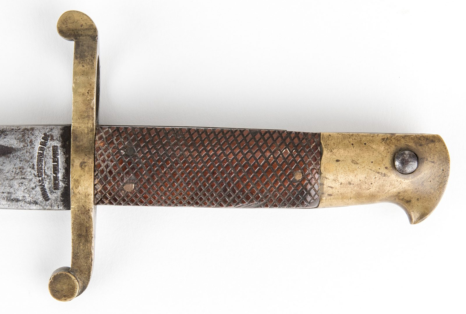 Lot 324: Confederate Thomas Griswold Saber Bayonet