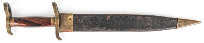 Lot 326: Confederate Bowie Bayonet Knife with Scabbard