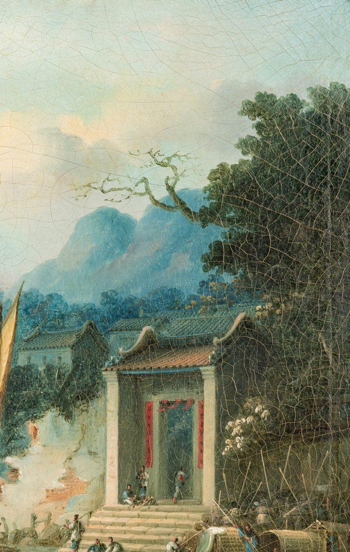 Lot 32: Early China Trade O/C, Harbor Scene