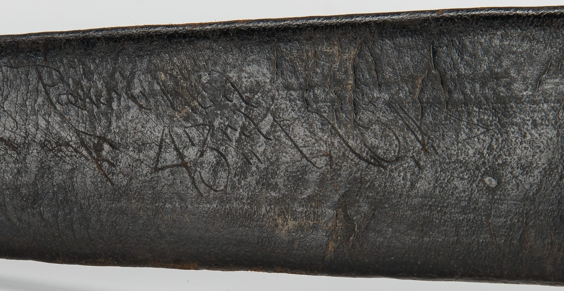 Lot 330: Confederate AR Calvary Toothpick Side Knife with Scabbard