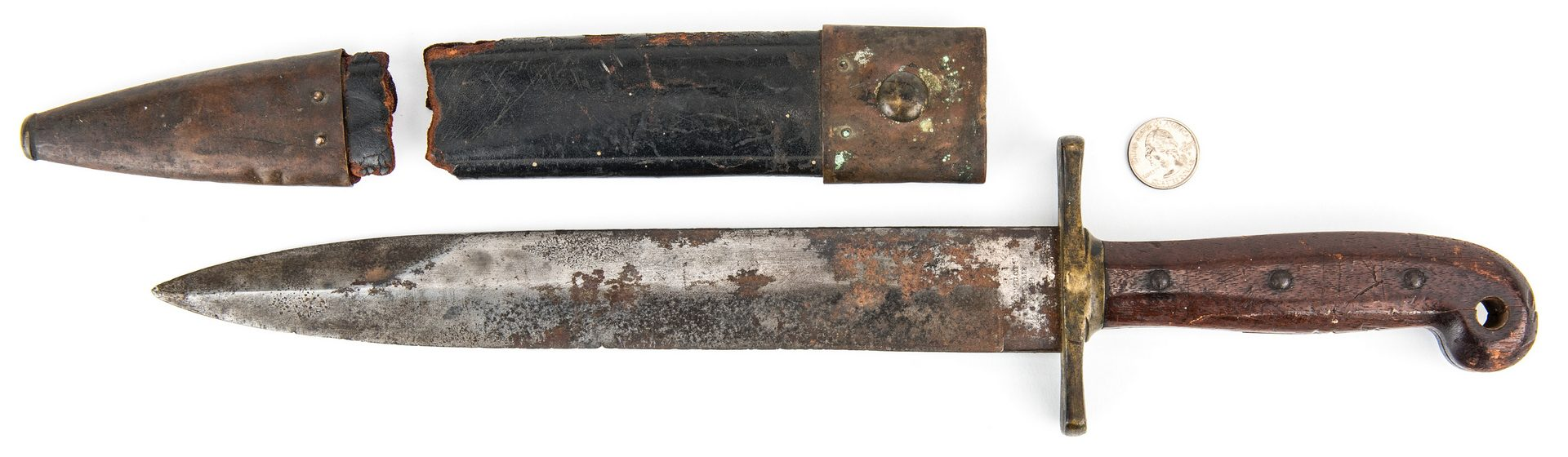 Lot 331: Civil War Ames U.S. Model 1849 Rifleman's Knife with Scabbard