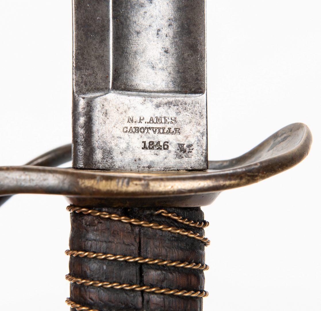 Lot 333: 2 Civil War era Swords, incl. Nashville Plow Works