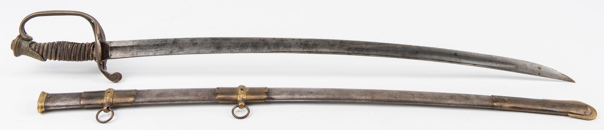 Lot 334: 1862 Presentation Clauberg Model 1840 Sword, Lieut. G. H. North