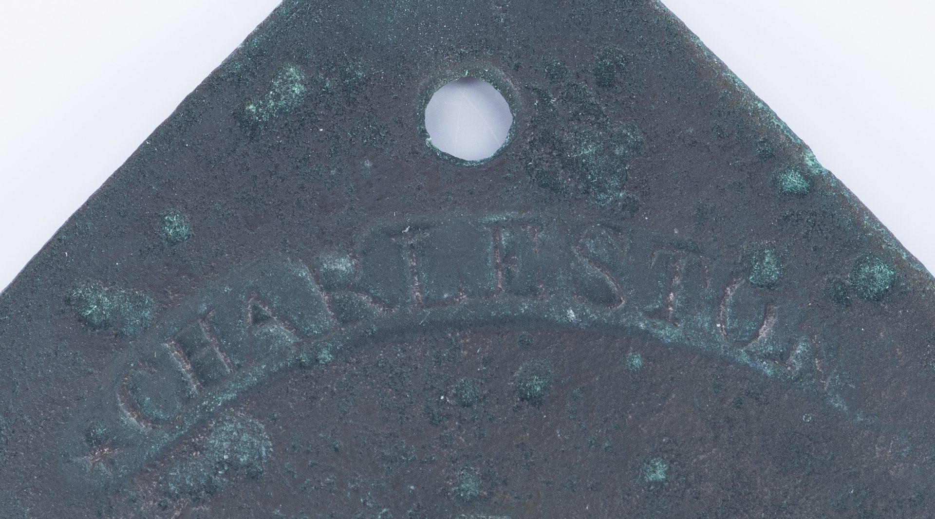 Lot 338: 1815 Charleston Lafar Fisher Slave Hire Badge, Number 125