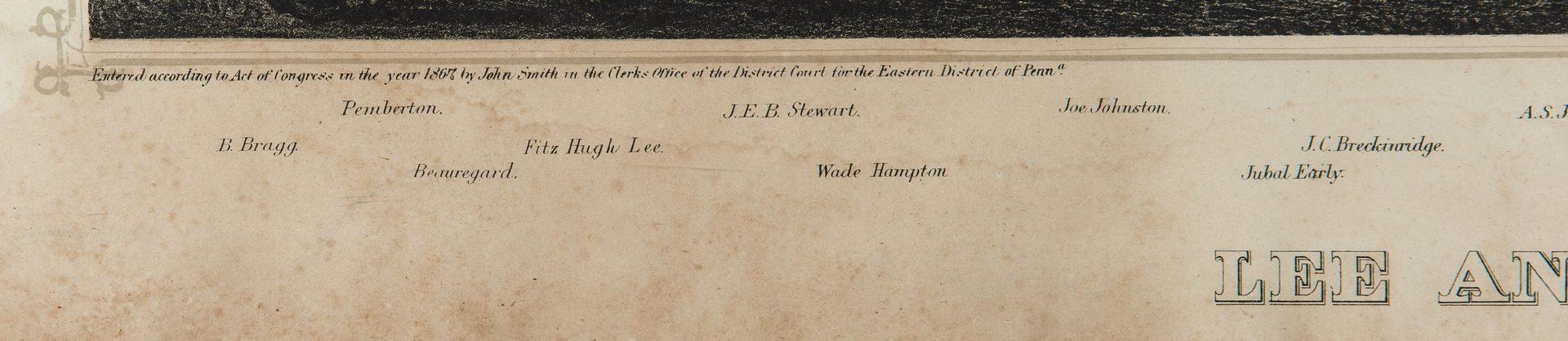 Lot 343: War era Photo of Nashville Wharf, Lee and Generals Print