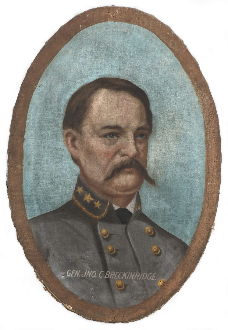 Lot 345: Lawrence Thompson Dickinson O/C, General J. C. Breckinridge