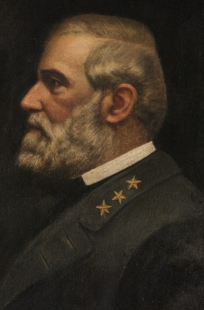 Lot 348: Robert E. Lee Portrait, c. 1902, oil on canvas
