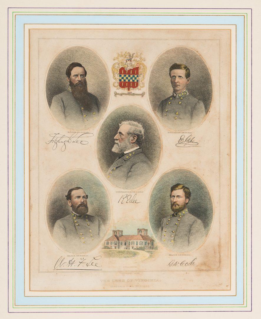 Lot 349: Robert E. Lee Charcoal Portrait; Lees of VA Print