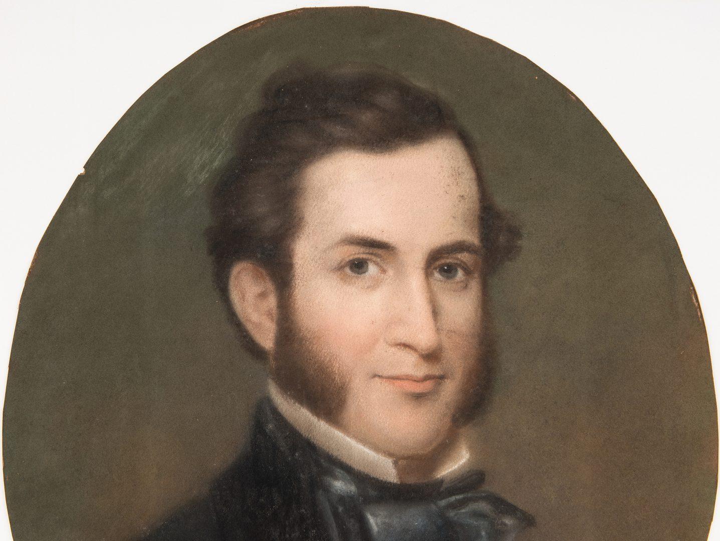 Lot 351: Attr. William Thurston Black, TN oval portrait of Mr. Rush