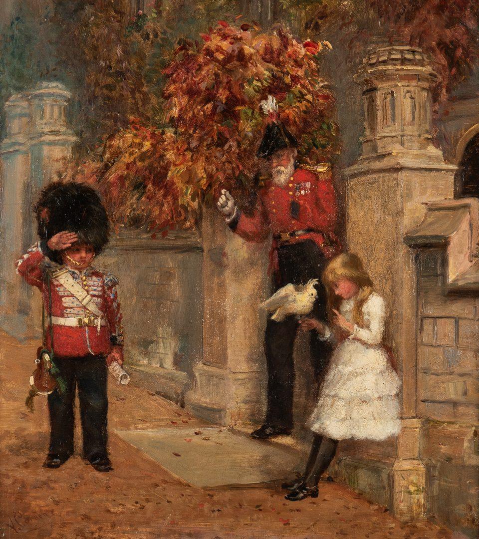 Lot 358: Victor Milton Corden O/C, British Officer with Children
