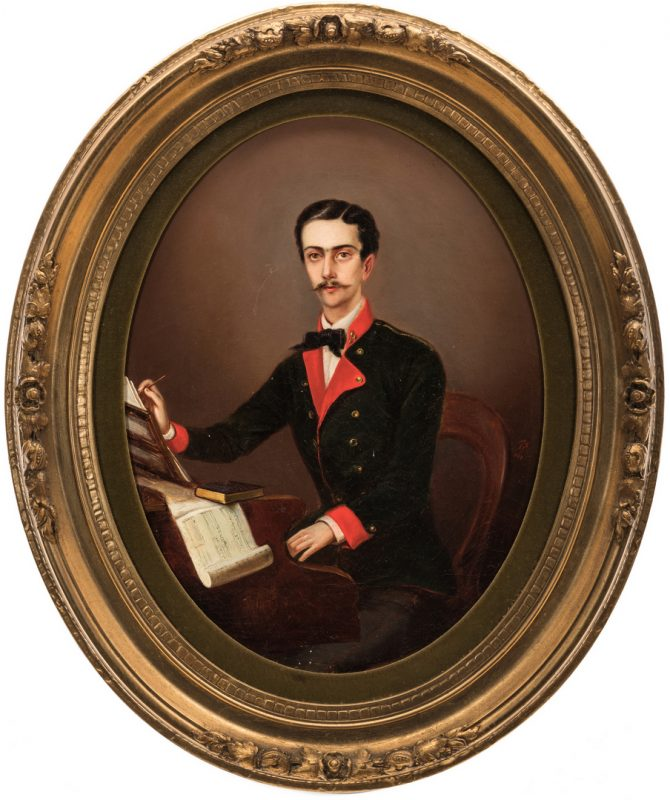 Lot 359: 19th C. German Portrait of a Composer