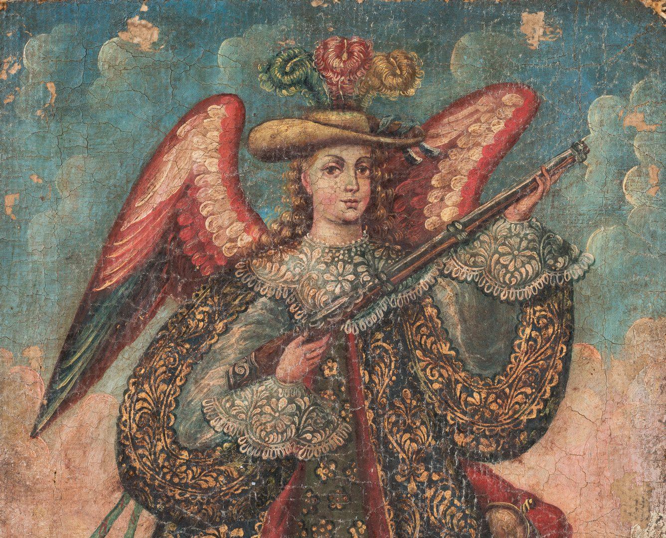 Lot 364: Cuzco School,  Archangel with Arquebus