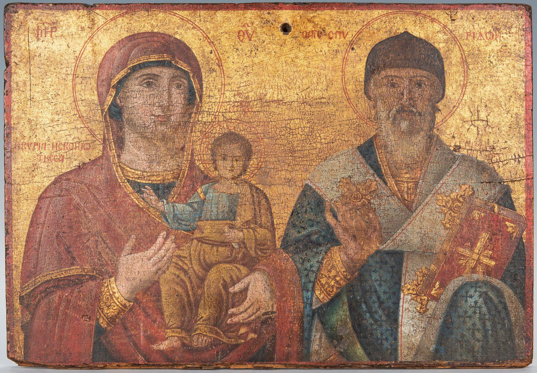 Lot 367: Russian Greek Orthodox Icon, tempera on panel