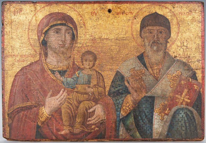 Lot 367: Russian Greek Orthodox Icon, tempera on panel
